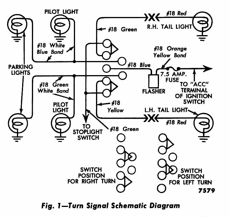 turn signal switch wire colors 1955