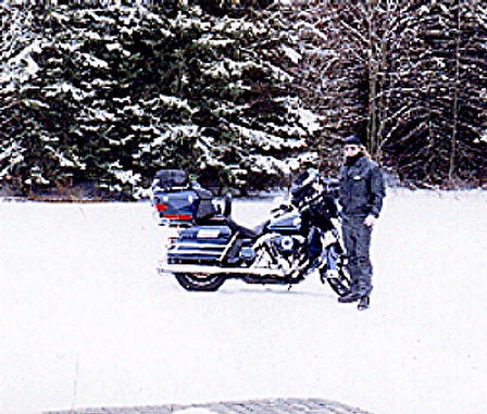 Leaving For Daytona Bike Week 2001. It was a cold ride both ways!