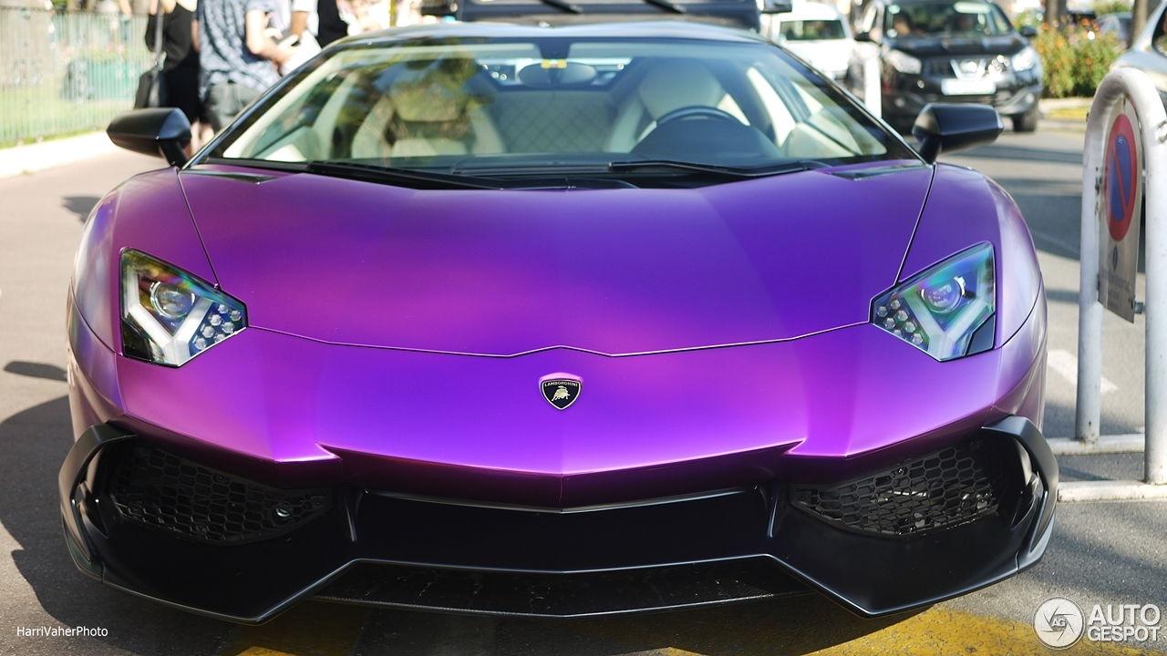 Matte Purple Lamborghini Aventador LP 700-4 50th Roadster ...