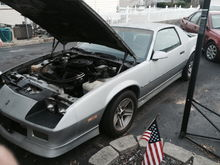 85 irocz. 5speed. All original silver one. One of the few that I've seen