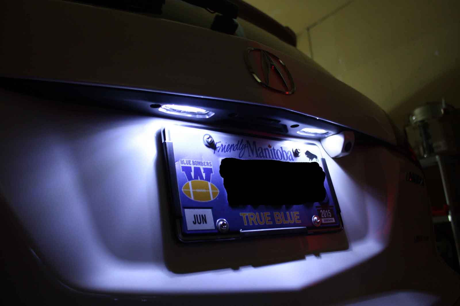 Acura MDX How To Replace License Plate Lights Acurazine - Acura license plate