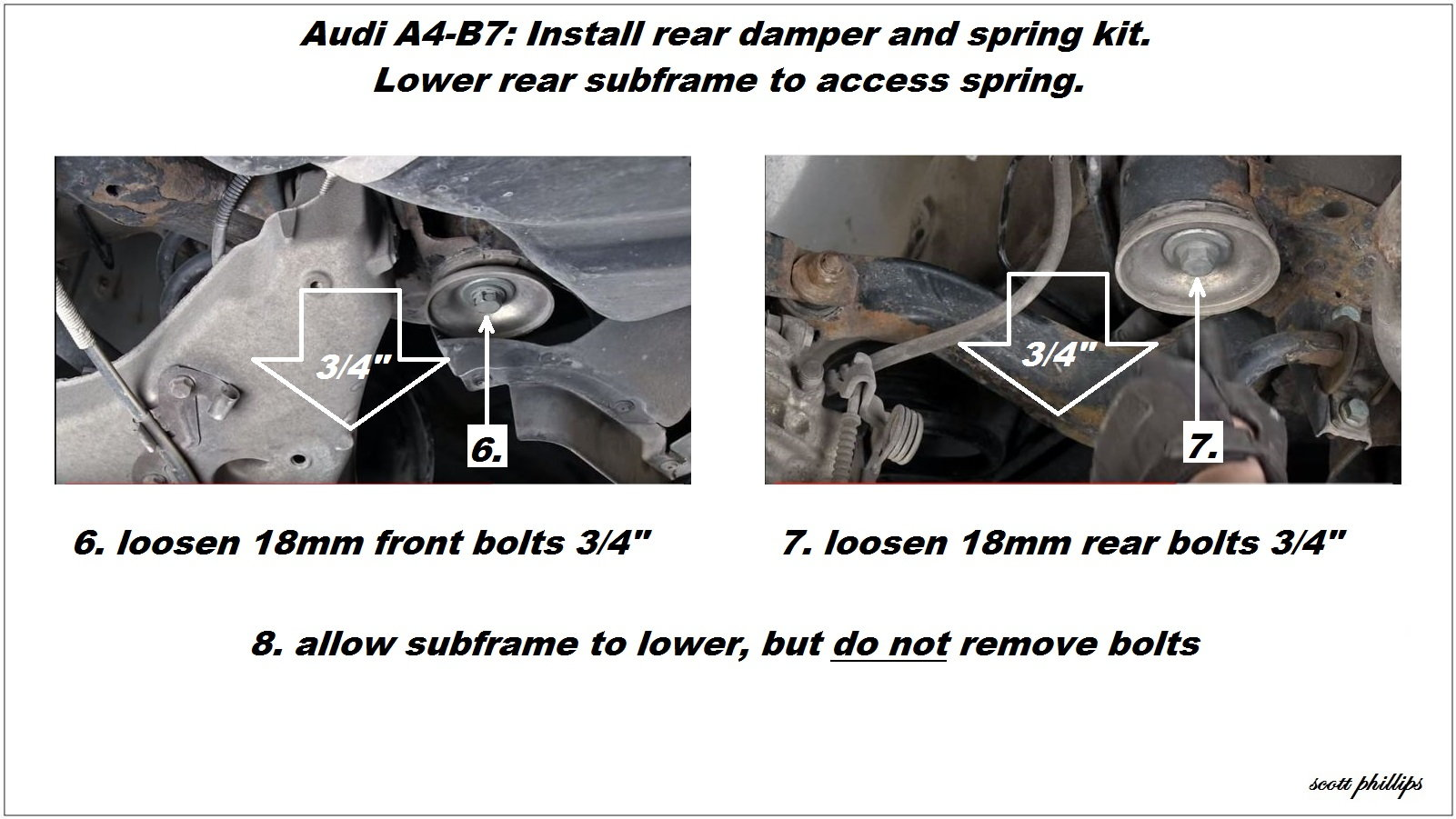 audi a4 b7 shock reviews and how to install shock absorber audiworld rh audiworld com 1999 Audi A4 Interior 1992 Audi A4