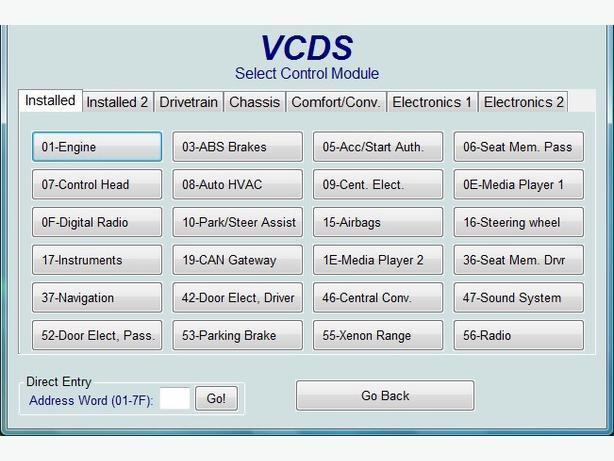 VAG-COM door locks reset