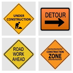 construction zone driving