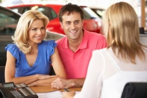 buying a car at dealership