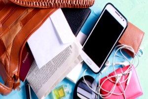 smartphone, purse