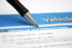 vehicle information form, car title