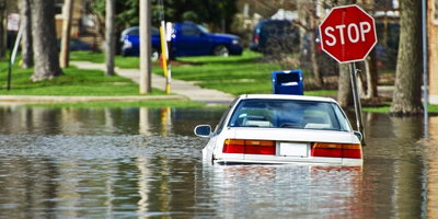 car underwater, flash flood
