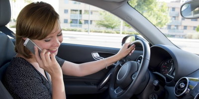 distracted driving, talking on cell phone while driving