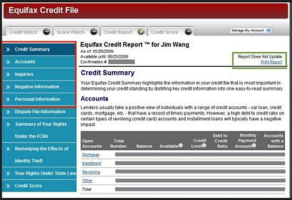 Identifying Information on your Credit Report