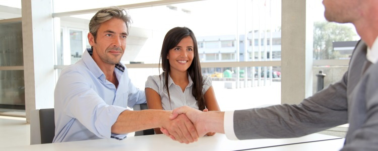 man and daughter get loan, cosigner