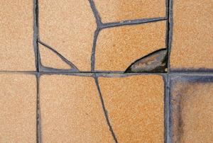 cracked tile