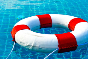 A pool with life preserver