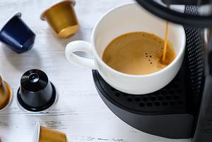 Coffee being brewed.