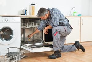 Dishwasher installation.