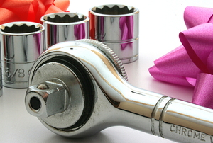wrench set with gift bows