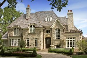 A home with cedar shingles.