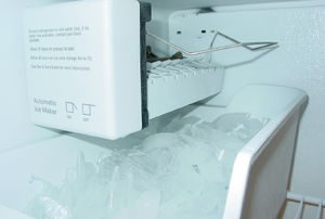 an in-freezer ice maker
