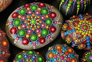 mandala painted rocks beautiful craft project