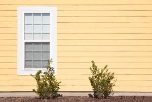 A wood window.