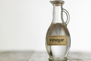A jug of vinegar.
