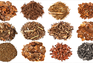 Different types of bark mulch.