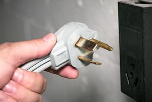 three pronged drier plug
