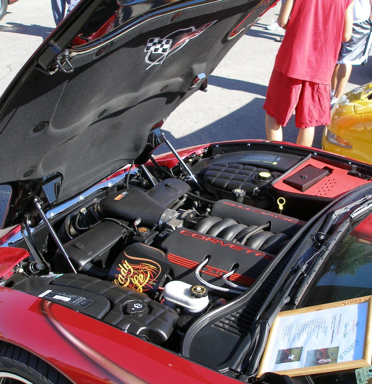 Leoras Corvette Engine Bay Detail