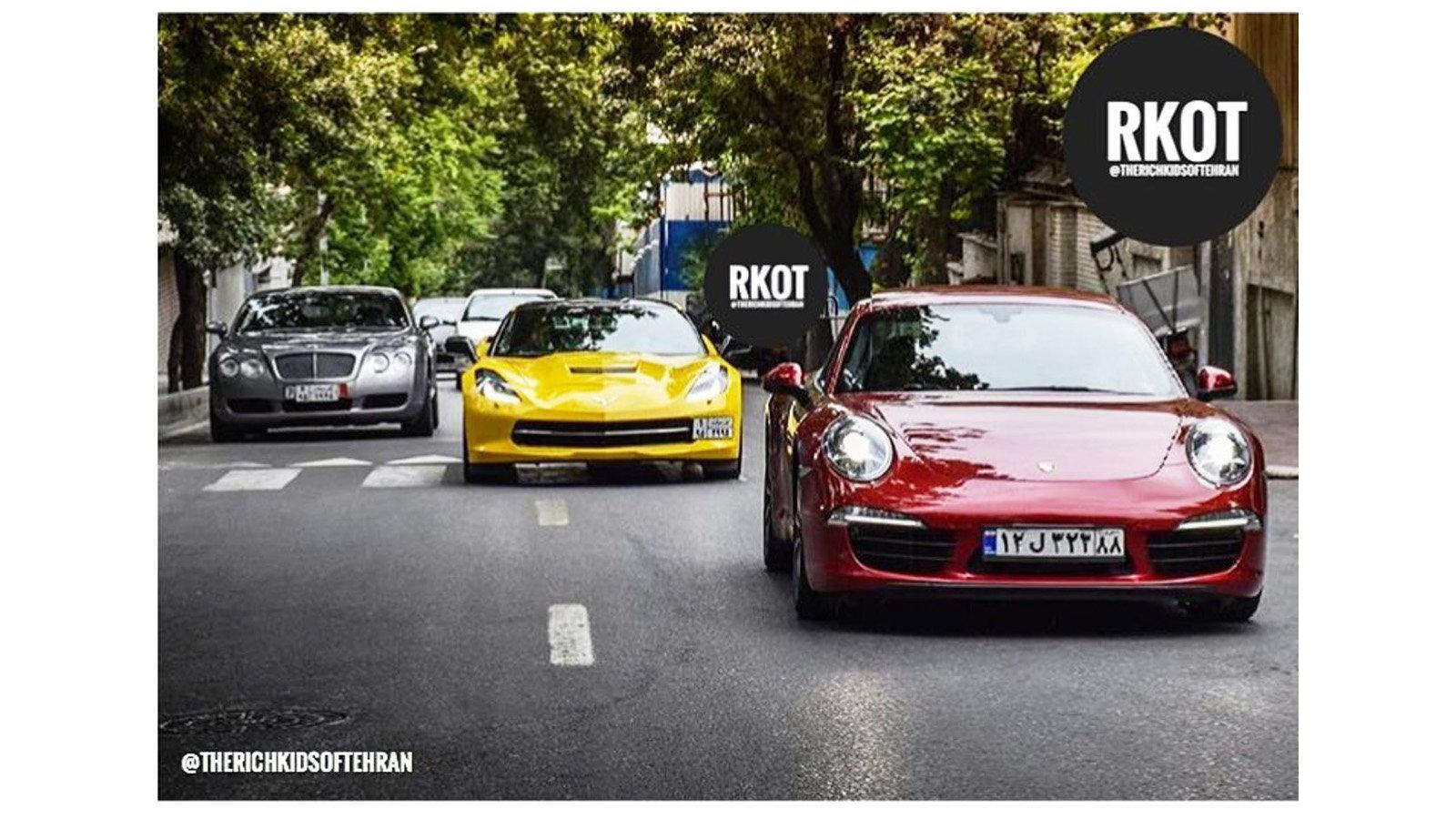 Rich Kids of Tehran Corvette