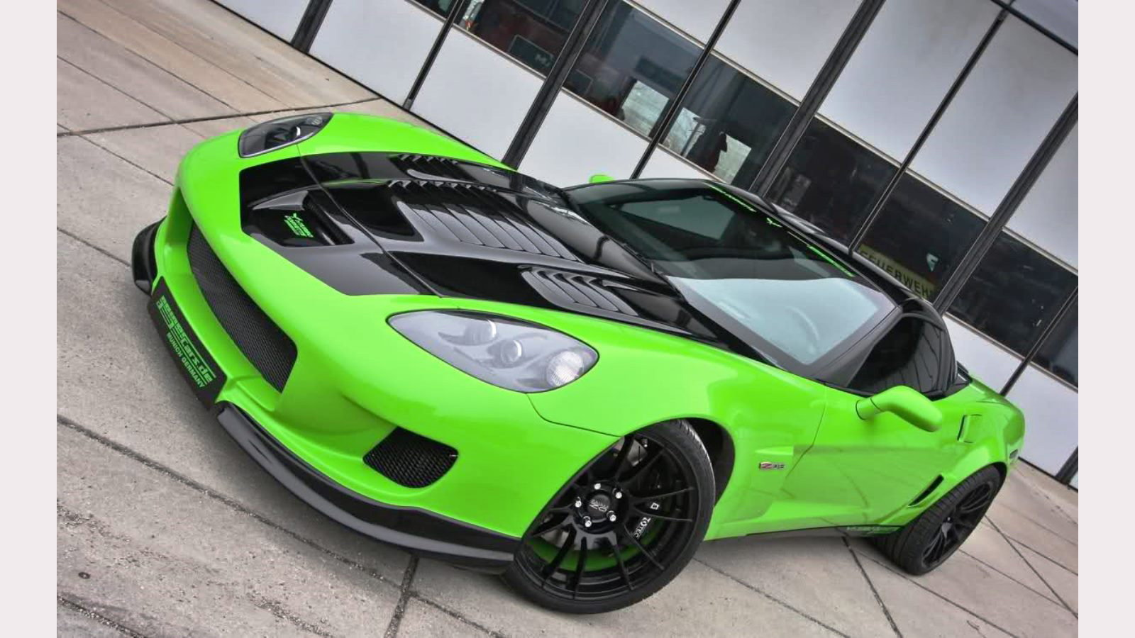 2009 Bright Green Geiger Corvette