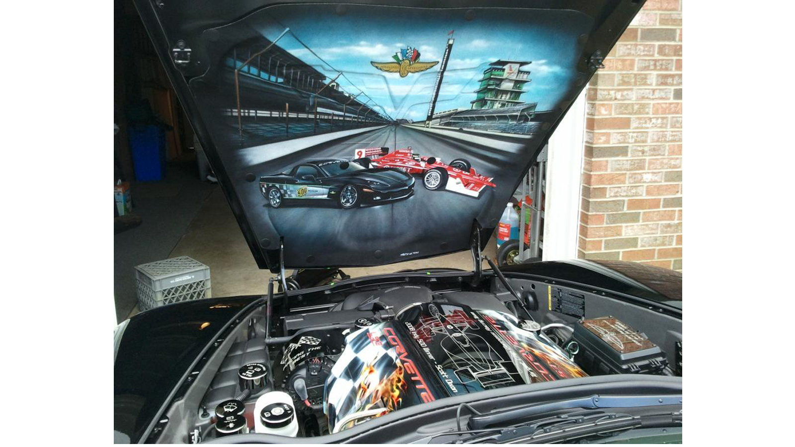 Airbrushed Vette