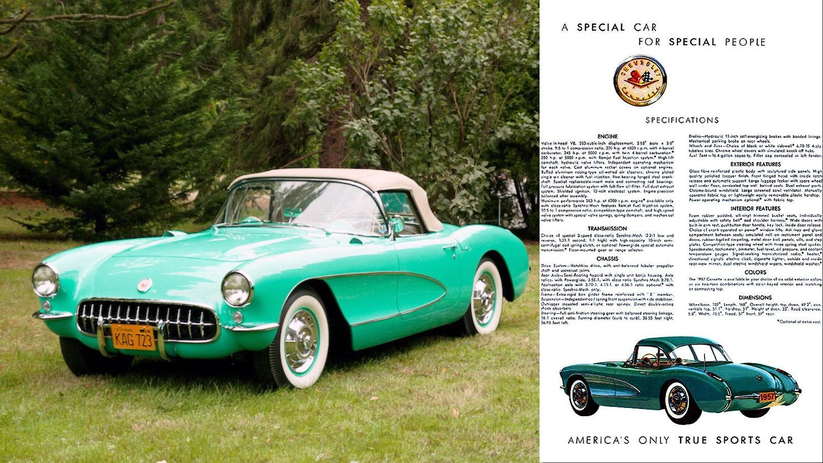 1957 Corvette in Cascade Green