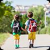 image of kids wearing backpacks.