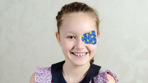 Image of girl with eye patch.
