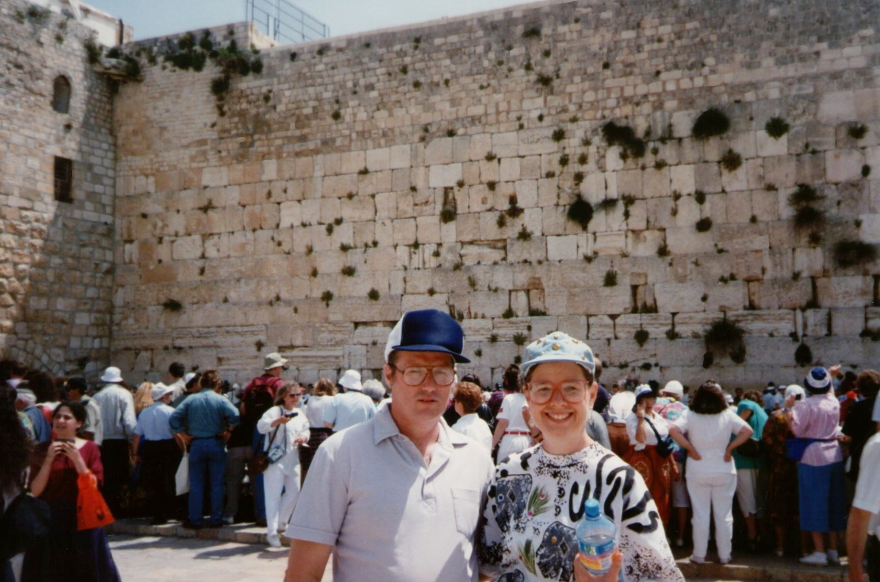 the author at the Wailing Wall