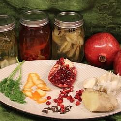 flavored vinegars and ingredients