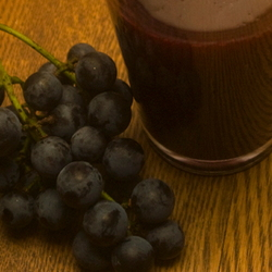 Concord grapes and Juice