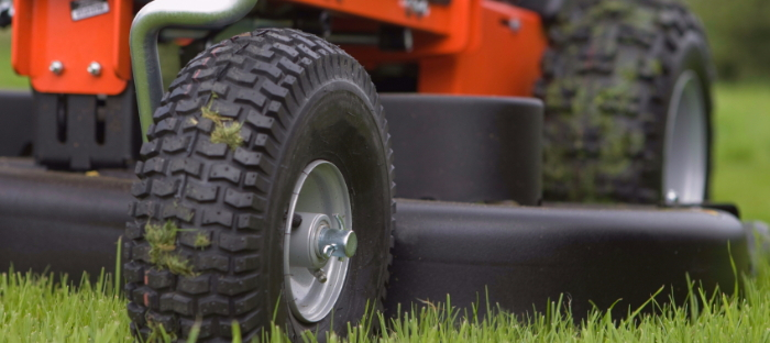 Lawn mower close-up