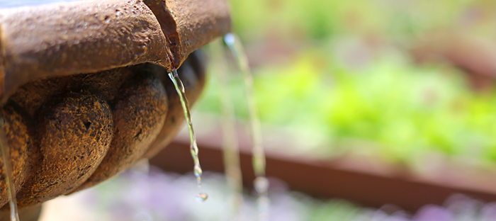 Fountain Edge Dripping Water
