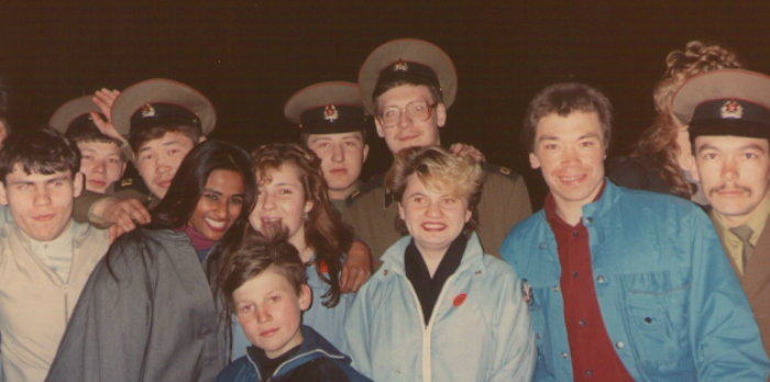 young Soviet soldiers and teens