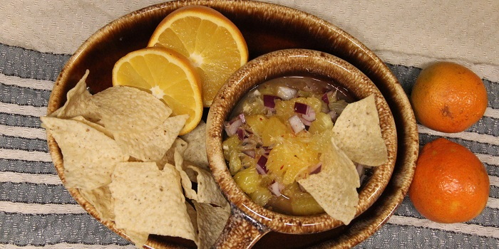citrus salsa with chips