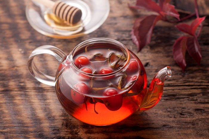 use rose hips to make some sweet and nutritious teas