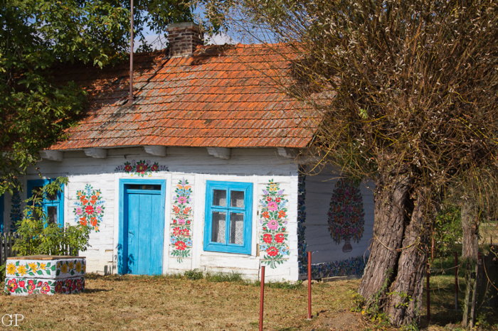 Decorated Russian cottage