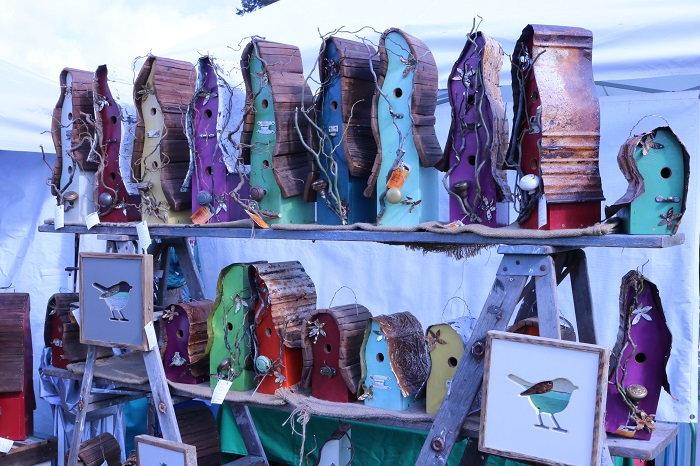 handcrafted birdhouses