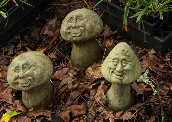 three mushroom gnomes