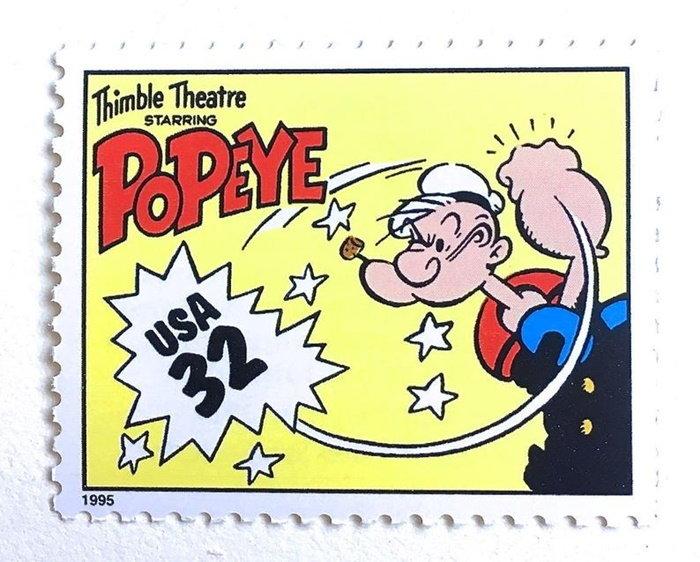 U.S. stamp featuring Popeye
