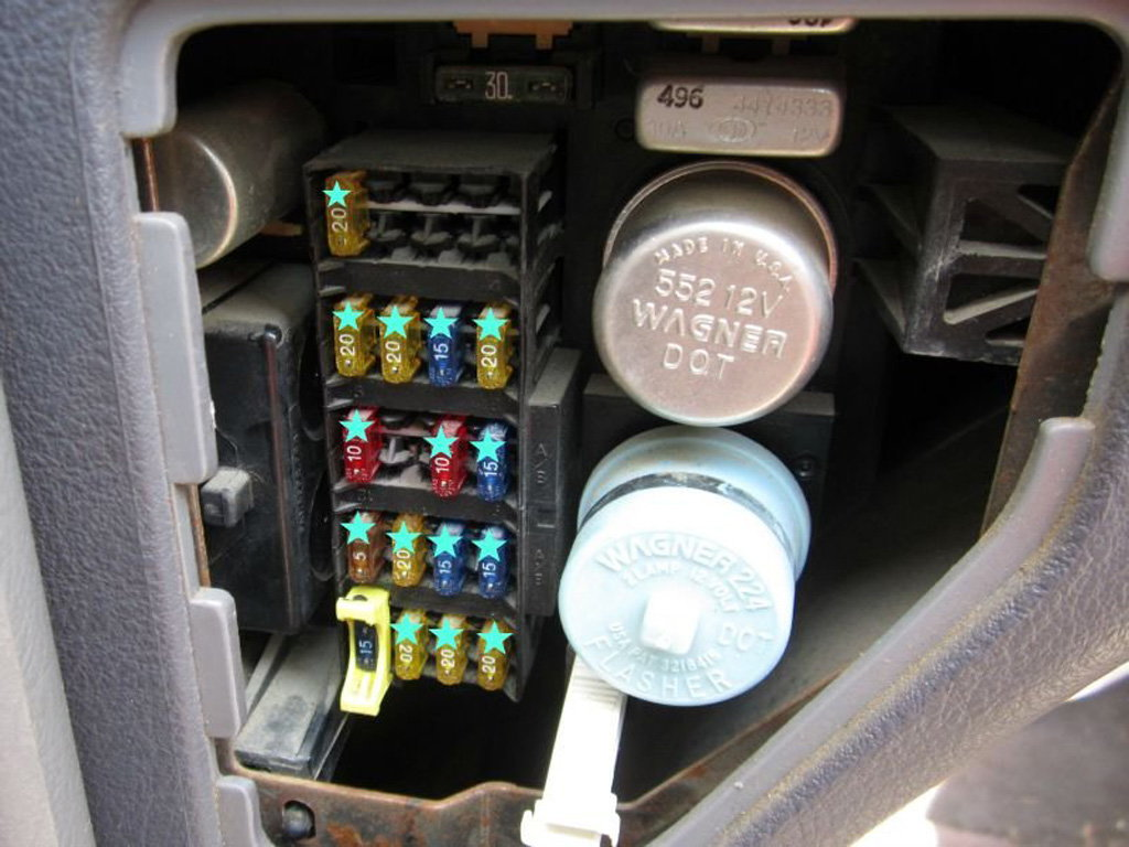 dodge ram 1994 2001 fuse box diagram dodgeforumfigure 2 junction box behind the dash panel