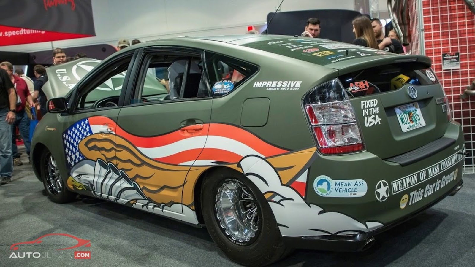 Custom Prius with Hellcat V8 Runs 9s