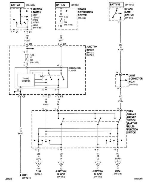 2001 dodge ram wiring diagram 2001 image wiring dodge ram 1994 2001 2nd generation turn signal hazard and brake on 2001 dodge ram wiring