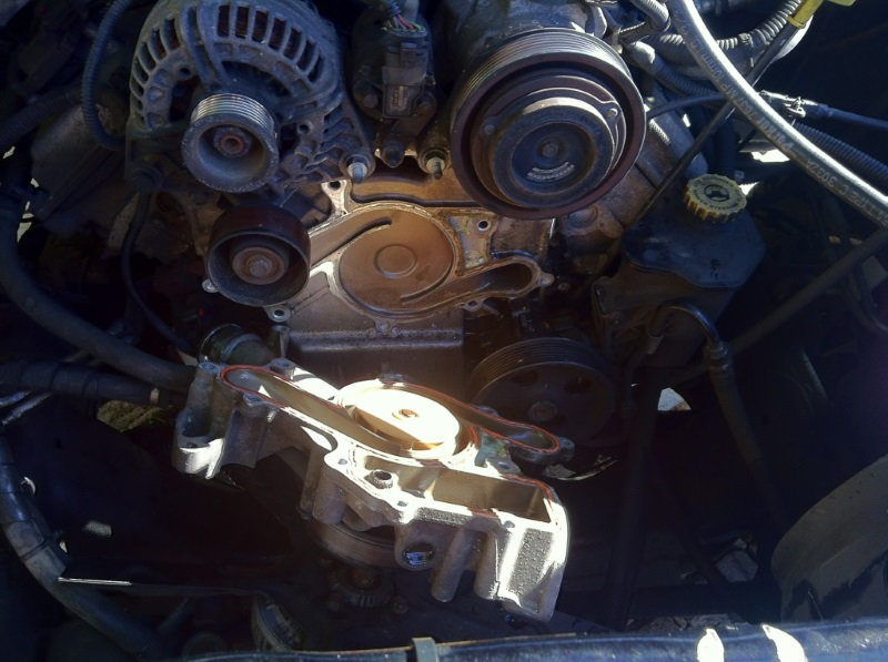 Dodge Ram 2002 2008 3rd Generation How To Replace Water Pump Rhdodgeforum: 5 7 Hemi Thermostat Location At Gmaili.net